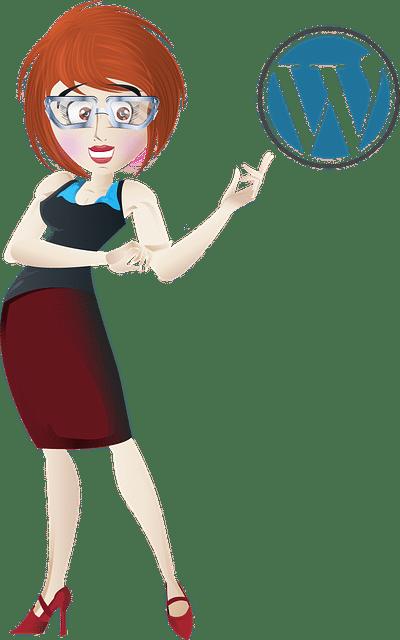 אשת עסקים בונה אתר וורדפרס לעסק