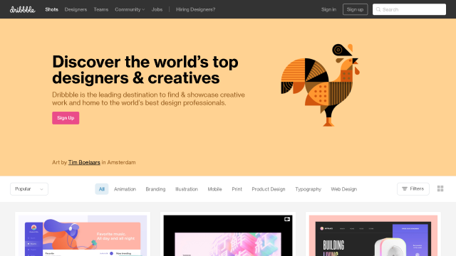 אחת מפלטפורמוט השיתוף הגדולות בעולם לשיתוף גרפיקות לעיצוב אתר אינטרנט, עיצוב אפליקציה, עיצוב מצגת פאוורפוינט, עיצוב ממשקים