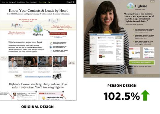 עיצוב אתרים מוצלח משתמש בתמונות אמיתיות של אנשים